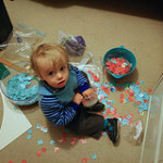 Leo enjoyed playing with all the breadtags